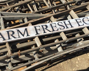 Farm Fresh Eggs, Vintage Wood Sign, Rustic Farmhouse Decor