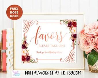 Wedding Favors Sign Printable, Floral Wedding Sign, Favors, Love is Sweet, Colorful Floral Wedding Decor,Favor Table,Reception Sign,boho #LC