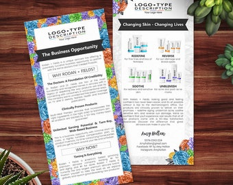 Rodan and Fields Business Opportunity, RF Product Cards, Why Rodan + Fields Card, Business Opportunity Flyer, Succulents collection