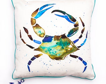 BiggDesignAnemoSS Green Crab Pillow