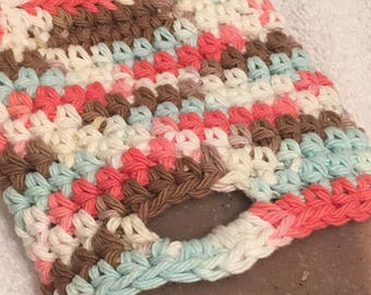 small crochet bag for soap 100 % coton