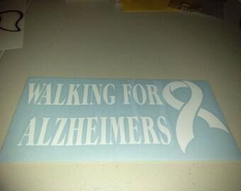 Walking for Alzheimer's Car Decal