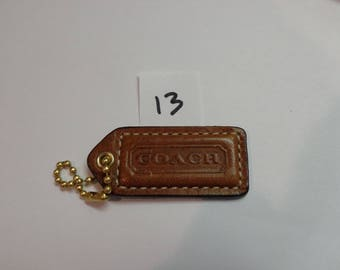 Coach Brown leather replacement hangtag