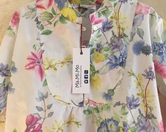 Flower summer oversize shirt for woman