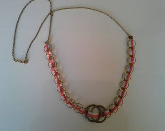 chic necklace and original suedine d ring and liberty fabric overlay
