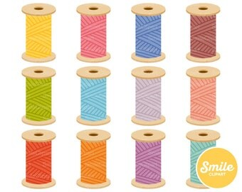 Thread Spool Clipart Illustration for Commercial Use | 0546