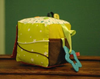 educational cube / fabric for baby activity
