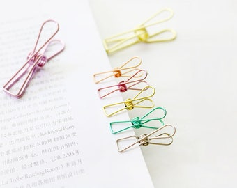 Set of 6 Small Fish Tail Skeleton Binder Clips