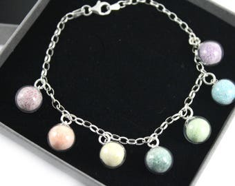 "DIY Breast Milk Sterling Silver Rainbow Bracelet,""Milk Dust Series"" Do it Yourself DNA Breastmilk keepsake"