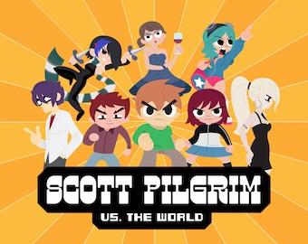 """Scott Pilgrim vs. the World 8x10"""" Print/Poster"""