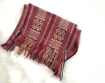 Hand made African Cloth Bag Women's shoulder bag Red Green and white