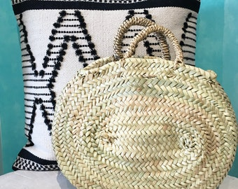Small Oval Basket |Straw basket |Market basket |Summer basket |Beach basket |Palm leaf basket |Sac de plage |Sac de marché |Sac en paille