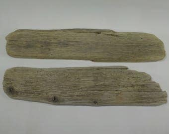 2 Flat Driftwood 16.3''/41 cm Old Aged Driftwood Pieces,Driftwood Signs,Natural Driftwood Sculptures #9A