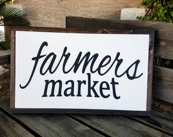 Farmers Market Sign | Farmhouse Sign | Kitchen Sign