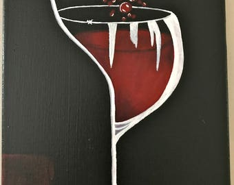 Modern Wine Glass - Red