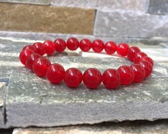 Root chakra chakra bracelet bracelet Muladhara jade mala bracelet