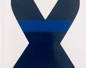 Thin Blue Line Police Ribbon Decal