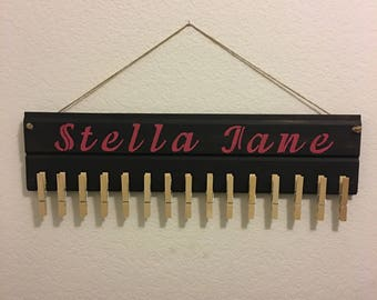 Personalized headband holder, personalized hair bow organizer, baby hair bow holder
