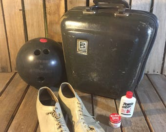 Vintage Brunswick Bowling Ball Set