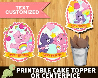 10 Care Bears centerpieces - Care Bears supplies - Care Bears centerpieces - Care Bears Birthday