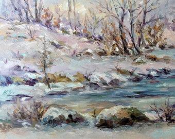 Winter-Oil Painting-Original Art