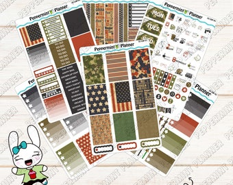 Military Weekly Planner Kit --- Planner Stickers --- For Use with the Classic HP --- 03