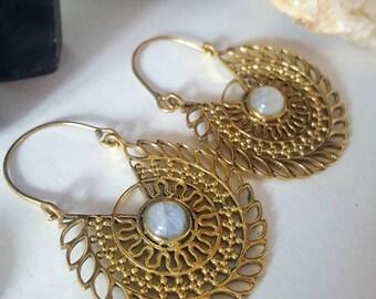 Boho mandala earrings
