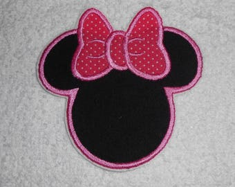 Pink Minnie Mouse Iron on Applique Patch