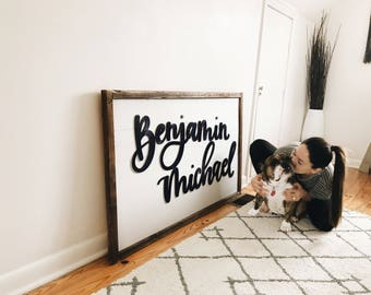 Custom shiplap sign