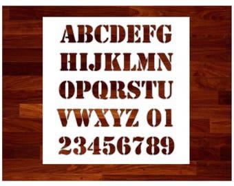 Alphabet Font Stencil