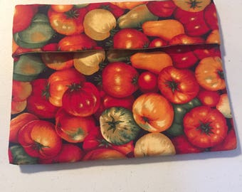 Tomato print microwave potato/veggie bag