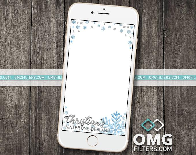 Winter Wonderland Geofilter - Custom Snapchat Filter - Birthday / Baby Shower - Any Event - Any age!