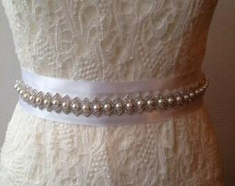 Wedding dress belt, Wedding belt, Bridal belt, Bridal sash, Wedding dress, Wedding sash, Wedding dress sash, Rhinestone belt, Handmade