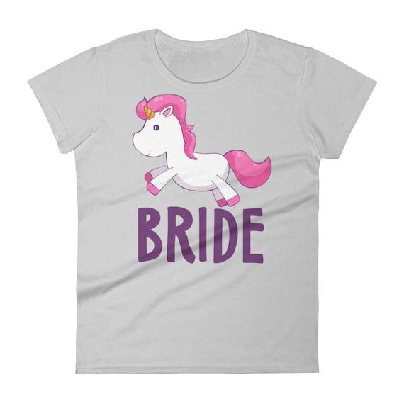 Bride, Unicorn Bride Women's short sleeve t-shirt, Bride Wedding T-Shirt