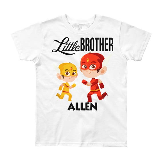 Custom Superhero Little Brother T-Shirt | Personalized Name Little Brother Shirt | Matching Sibling T-Shirts | Little Brother Outfit