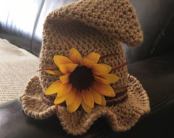 Newborn Scarecrow Hat, Baby Scarecrow Hat, Crochet Scarecrow Hat, Fall Baby Hat