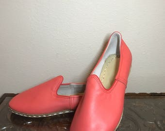 Pink Handmade Leather Shoes