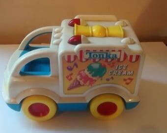 Vintage My First Tonka Ice cream truck Musical 1992 very good