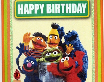 Sesame Street Birthday Card