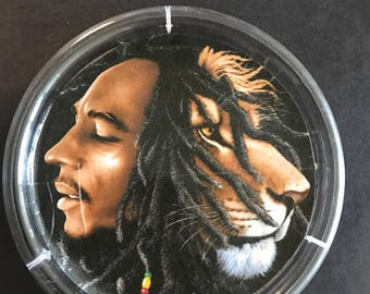 Bob Marley and Lion Ashtray