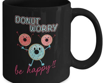 Donut mug | donut gifts men | Ideal gift to use donut party invitation |As seen on donut party shirt!