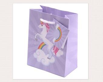 Lilac Dancing Unicorn Gift Bag (small)