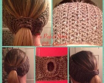 Ponytail Headband/ Ear Warmer