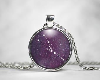 Taurus Pendant - Taurus Necklace - Constellation Necklace - Galaxy Pendant - Girl Gift - Friend Gift - Zodiac Jewelry - Star SIgn - Star