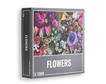 Flowers: 1000-piece jigsaw puzzle for grown ups!