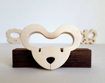 Mouse - man toy teething ring