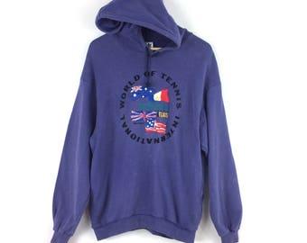 Vintage Adidas Hoodie / Adidas World Of Tennis Sweatshirt / Adidas Hoodie / Adidas Big Logo / Adidas Trefoil / Adidas Jacket