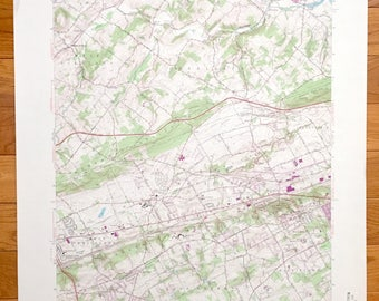 West Chester Pa Map Etsy - Malvern Pennsylvania On Us Map