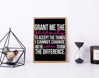 Printable Quote: Grant Me the Serenity