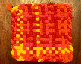 The Sea Is On Fire Pot Holder